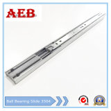 2017 Furniture Customized Cold Rolled Steel Three Knots Linear for Aeb3504-400mm Full Extension Soft-Closing Drawer Slide
