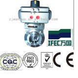 Stainless Steel Pneumatic Butterfly Valve for Control Tops