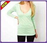 Fashion Sexy Cotton Print Long T-Shirt for Women (W242)