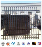 Wrought Iron Fence Garden Fence Home Fence Black and Green