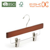 Straight Wooden Kids Hanger with Clips (MC012)