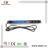 19 Inch 1u UK PDU with USB Outlet