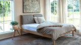 Solid Wooden Bed Modern Double Beds (M-X2248)