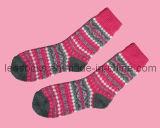 Lady′s Colourful Short Warm Socks