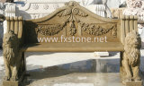 Carved Marble Bench for Garden Decoration