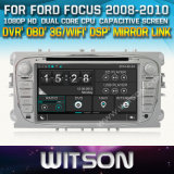 Witson Car DVD for Ford Focus 2008-2011 Car DVD GPS 1080P DSP Capactive Screen WiFi 3G Front DVR Camera