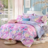 100% Cotton/Polyester Reactive Printed Bedding Duvet Cover Set with Deep Sleep Fabric