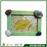 Factory Price Green Wooden Photo Frame with 4 Rocks