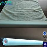 Disposable Hospital Bed Sheet Roll Nonwoven White/Blue Bed Sheet