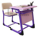2015 Best Seller Single Student Table and Chair with Steel Frame