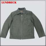 Men′s Suede Jacket with Simple Style