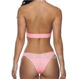 Sweet Adorable Pink Cross Girl Bandeau Hollow-out Bikini
