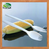 Disposable Biodegradable Cornstarch Fork Spoon 140mm