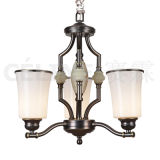 Iron Chandelier with Glass White Shade (SL2235-3D)