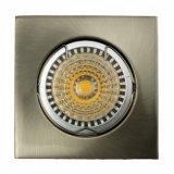 Die Cast Aluminum GU10 MR16 Square Fixed Recessed Satin Nickel LED Lamp (LT1001)