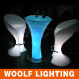 LED Glowing High Top Funnel Shape Cocktail Table