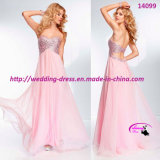 New Arrival Sexy Evening Dress Full Length Strapless with Beading