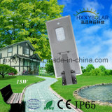 Outdoor Integrated 15W Soalr LED Street Light with Ce Certification