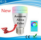 E27 7W Dimmable RGB APP WiFi Smart LED Bulb Connect with Amazon Alexa Echo