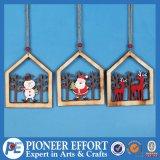 Christmas Snowman Santa and Deer Design for Hanging Ornament