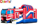 Truck Inflatable Bouncer Combo/Kids Inflatable Bouncer Slide