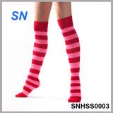 2015 Fashion Hot Sell Ladies Thigh High Striped Socks