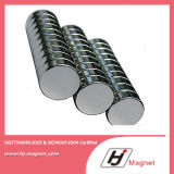Super Power Customized Need N35-N38 Cylinder Neodymium Permanent NdFeB Magnet by China Factory