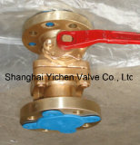 B148 C95800 Aluminium Bronze Levered Ball Valve