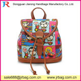 China Wholesale Fashion Lady Canvas Backpack with Leather Side