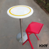 Solid Surface Stone High Round Bar Table