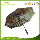Hot Sale Grid Printing Camouflage Pattern Outdoor Automatic Golf Umbrella