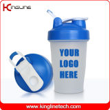400ml Plastic Protein Shaker Bottle with Blender mixer Ball and Handle (KL-7011D)