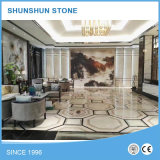 Natural Stone Mosaic Pattern Water-Jet Marble Design