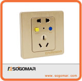 Dk-10A Silver Wall Mount Switch Outlet for Circuit Beaker