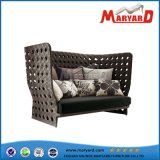High Quality Patio Wicker Furniture Top Grade Rattan Garden Single Chair with Cushion