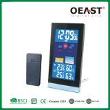 LED Display Desktop Clock with Weather Station and Hygrometer Thermometer