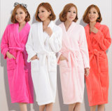 Promotional Hotel / Home Cotton / Flannel / Coral Fleece Woman / Couple Bathrobes / Pajamas / Nightwear