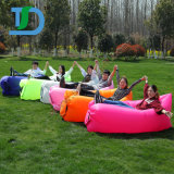 Inflatable 210t Nylon Fabric Sleeping Lazy Bag for Outdoor Camping