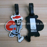 Soft PVC Cute Santa Claus 2D Luggage Tags