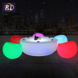 Waterproof Garden LED Lighted Plastic Round Table LED Coffee Table
