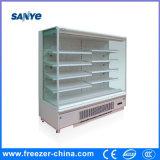 Plug in Compressor Cooler Convenience Store Open Front Refrigerator