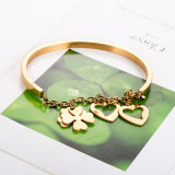 Popular Women Jewelry Fashion Gold Plated Leaf Charm Bracelet