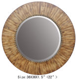 Nature Wood Mirror Home Decor Round Wall Mirror