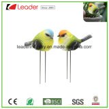 Polyresin Bird Lovers Garden Stake for Pots and Lawn Decoration