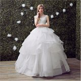 Graceful Beading Lace Tulle Layering Ball Gown Wedding Dress (Dream-100077)
