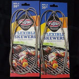 Stainless Steel BBQ Skewers Grill Skewer Tool