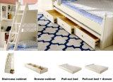 Korean Style Solid Wood Bunk Bed for Children Bedroom Furniture (9001)