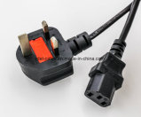 4 Way Universal UK Electrical Power Extension Socket Power Cord UK Power Cord with C13 Right Angel Connector