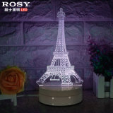3D Visual Christmas Light White LED Night Table Lamp