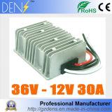 Waterproof DC DC Step Down Converter Reducer 36V to 12V 30A Buck Module Car Power Converter Regulator